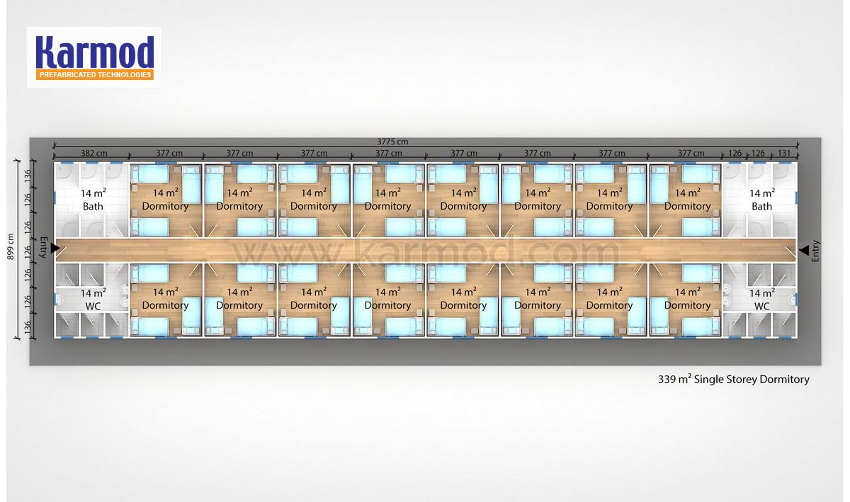 Container 24 De Prefab Mobile Dormitory Units | Temporary Solutions‎