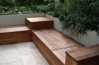 Deck bench with storage  karolciblog
