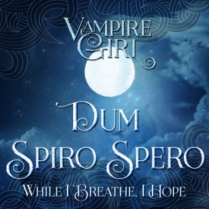 Vampire Girl Quote Square Banner