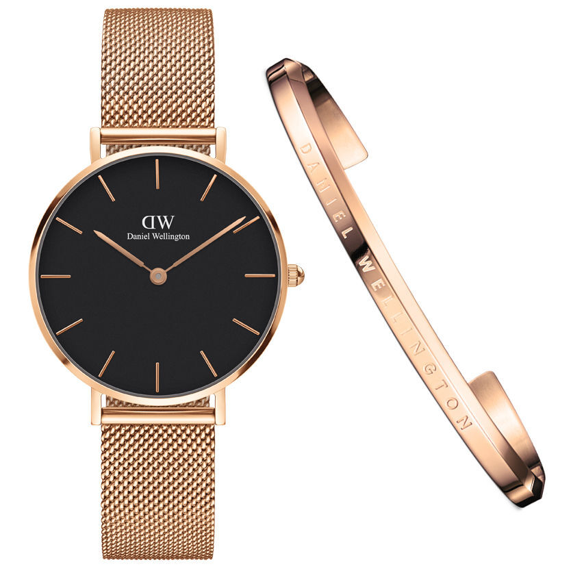 Damen Uhren Daniel Wellington Damen Set Uhr And Armreif Quotdw00500001