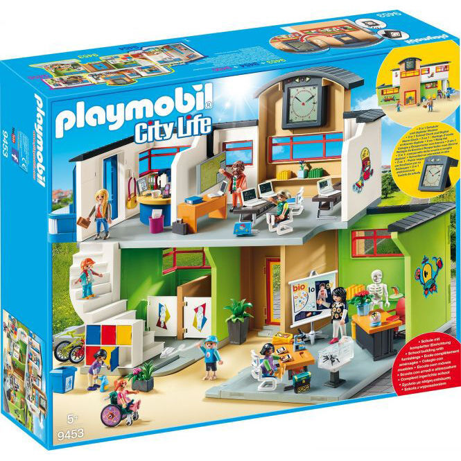 Playmobil City Life Küche Playmobil City Life Große Schule Mit Einrichtung 9453