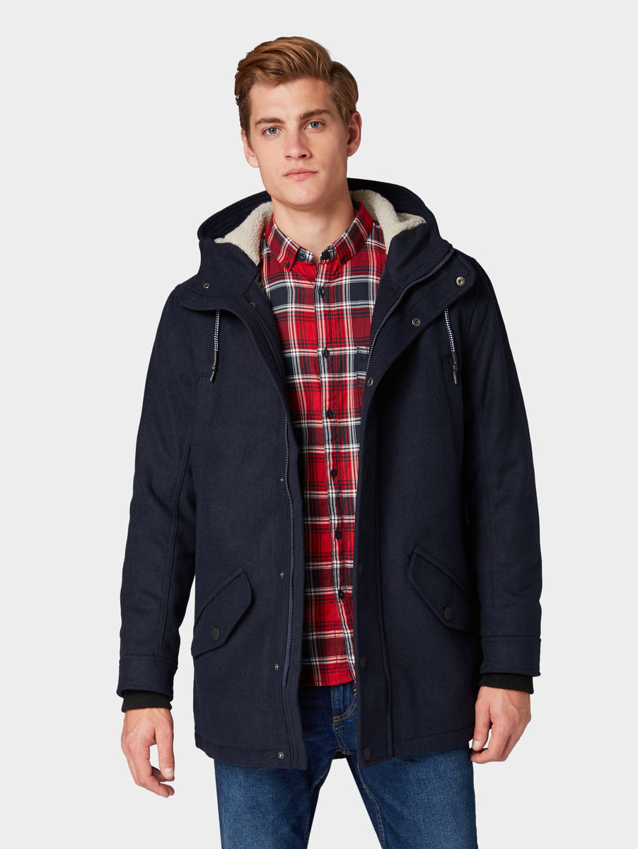 Www Tom Tailor Parka Mit Kapuze M Sky Captain Blue