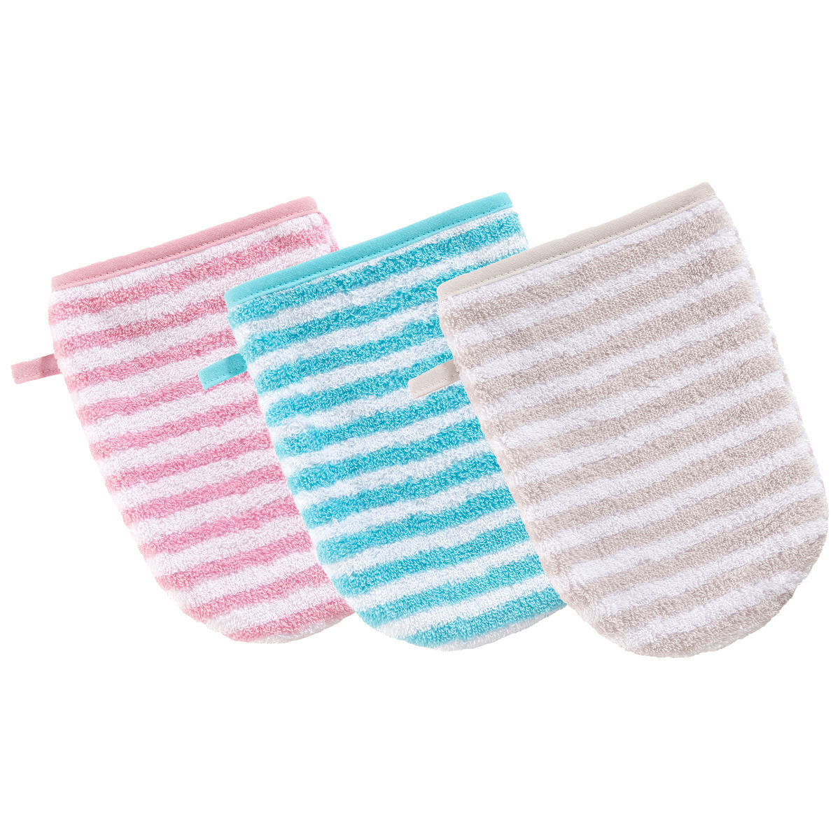 Waschhandschuh Baby Vossen Waschhandschuh Quotbaby Stripe Quot Pearly Pink