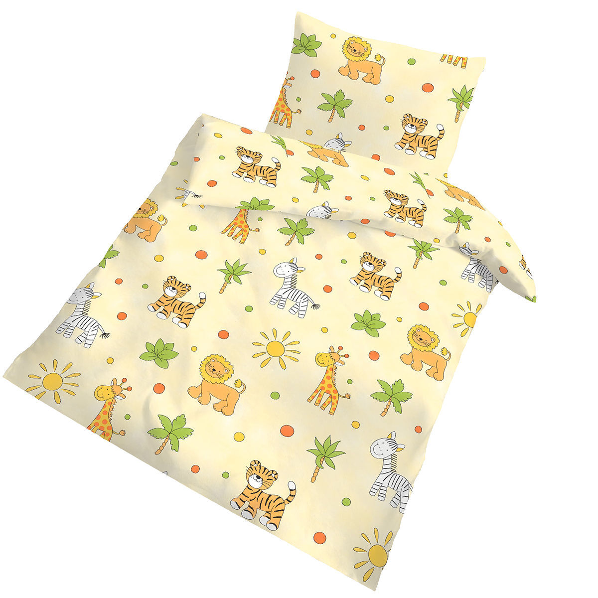 Bettwäsche Baby 100x135 Ido Collection Baby Renforcé Bettwäsche Quotdschungel