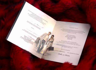 Kartu Undangan Pernikahan Retro Elegant