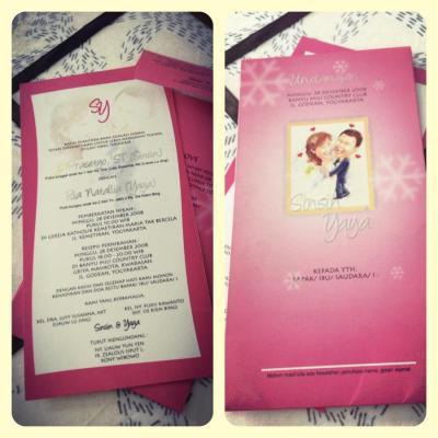 Undangan Pernikahan Kartun