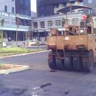 Pengaspalan Hotmix Halaman Parkir Depkeu Jakarta