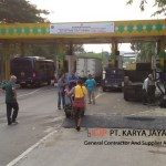 Pengaspalan Hotmix Terminal Cargo Soekarno Hatta