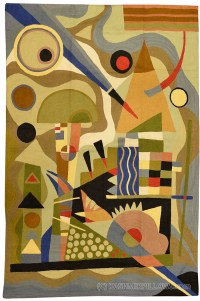Kandinsky Abstract Composition Wool Rug / Wall Tapestry ...