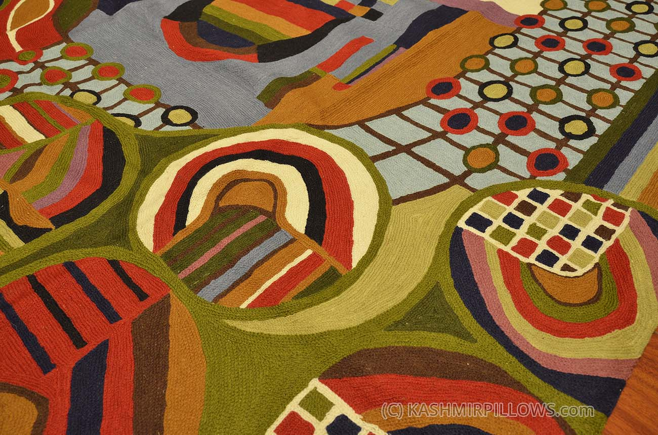 Hundertwasser 5 Ft X 7ft Wool Rug Wall Tapestry Hand