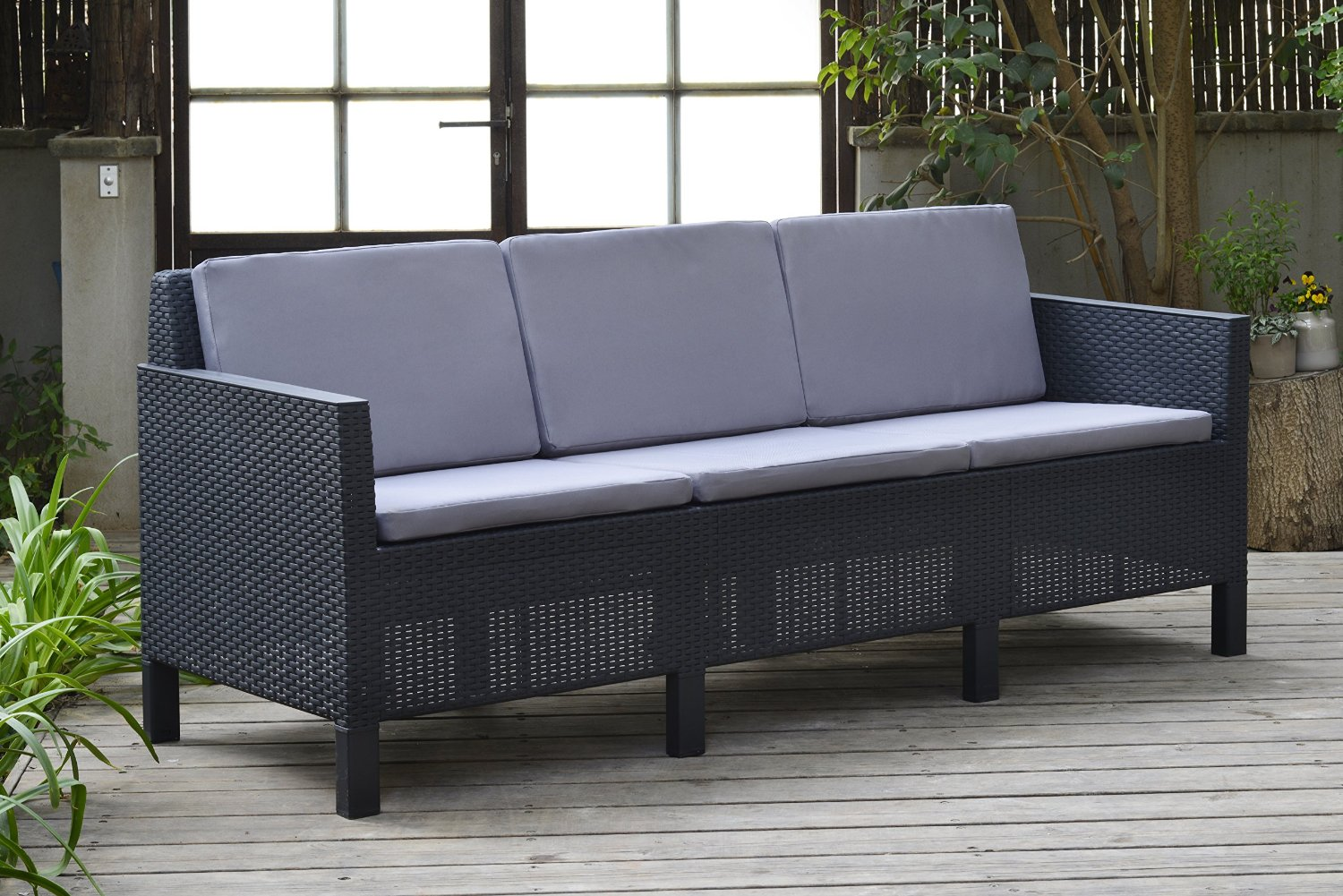 Lounge Sofa Allibert Allibert Chicago 5 Seater Lounge Set With Grey Cushions