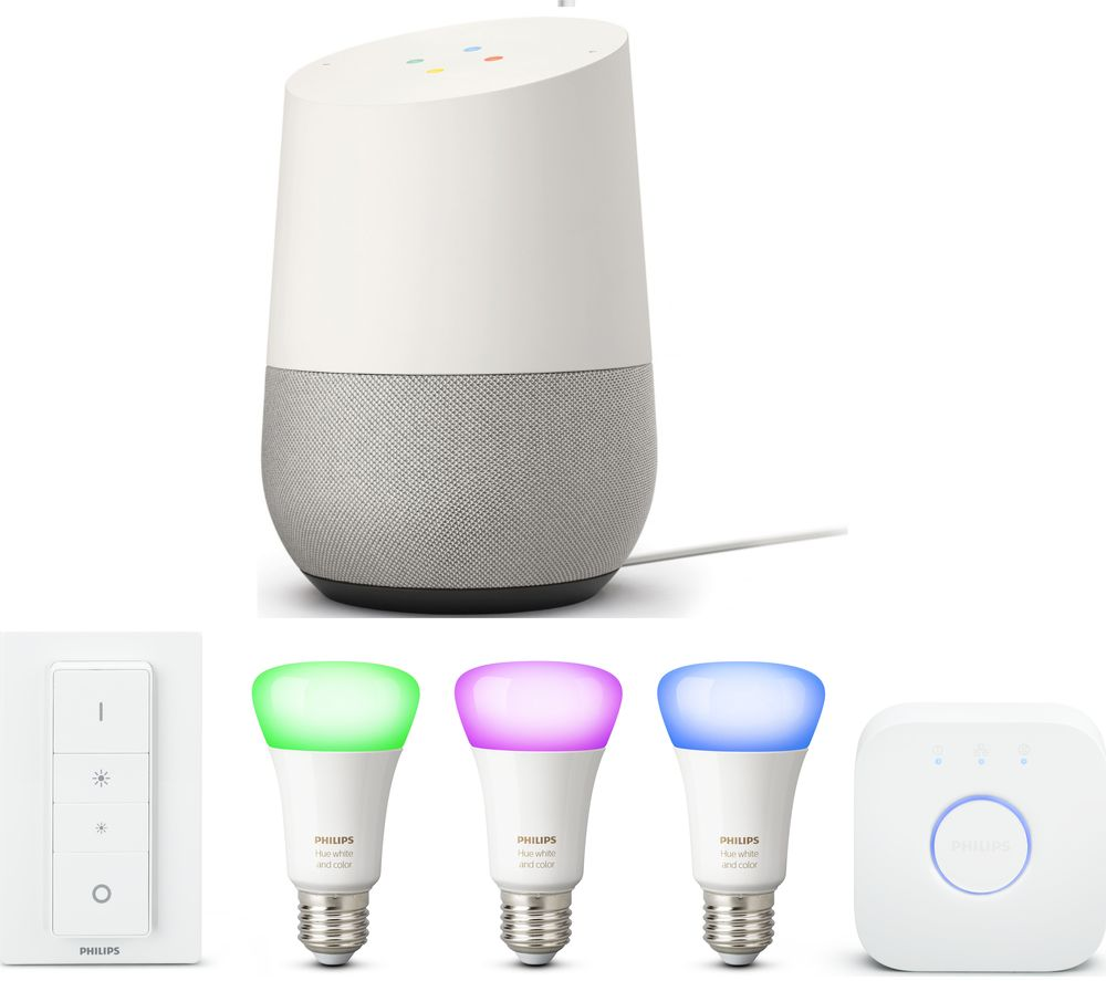Philips Hue Starter Kit E27 Philips Hue White Colour Ambiance E27 Starter Kit Google Home