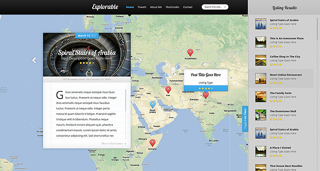 Download Explorable WordPress Theme Free