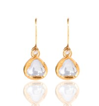 Heirloom Classic Raw Sliced Diamond Drop Earrings - Kastur ...