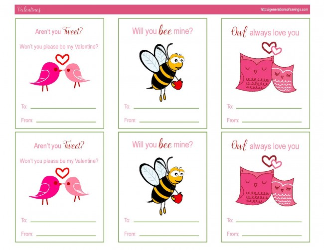 Awesome Free Printable Valentines Day Cards - Kat Balog