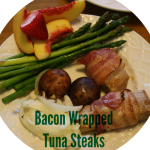 Bacon Wrapped Tuna Steaks {Tasty Tuesday}