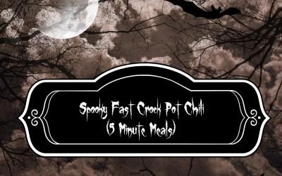 Spooky Fast Crockpot Chili {5 Minute Meals}
