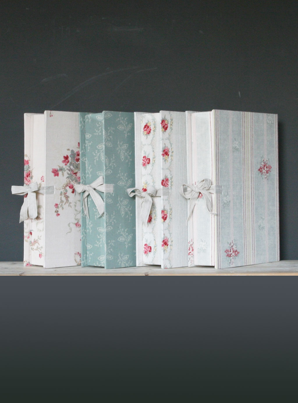Linen Box Patterned And Plain Linen Box Files Kate Forman Designs