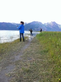 Jennifer Zane fishing in Hope, Alaska