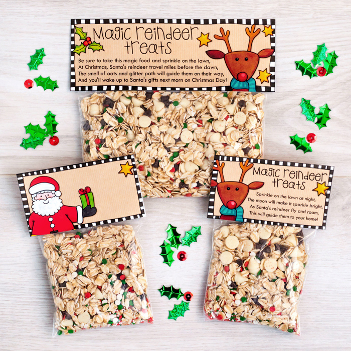 Magic Reindeer Treats and Snowman Soup Christmas bag toppers - Kate