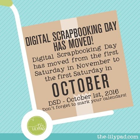Did you know that Digital Scrapbooking Day has moved? Wellhellip