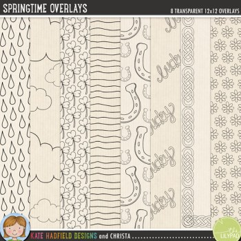 Springtime Overlays by Kate Hadfield Designs