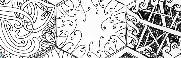 Zentangle Starter Sheets - Kate Hadfield Designs