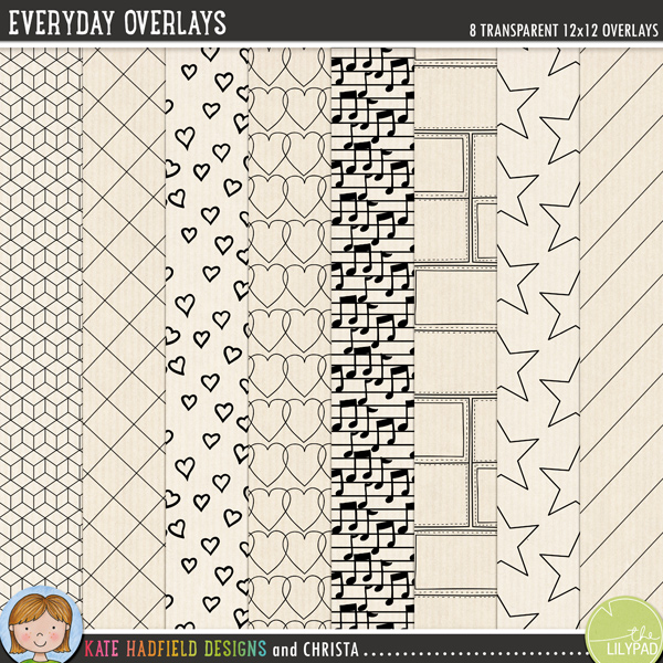 Everyday Overlays by Kate Hadfield Designs and Christa