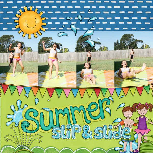 Kate Hadfield Designs Creative Team summer favourites - Scrapbook page by Kirstie