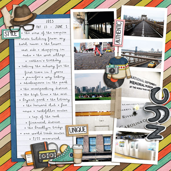 Kate Hadfield Designs Creative Team July 2016 favourites - Scrapbook page by Melanie