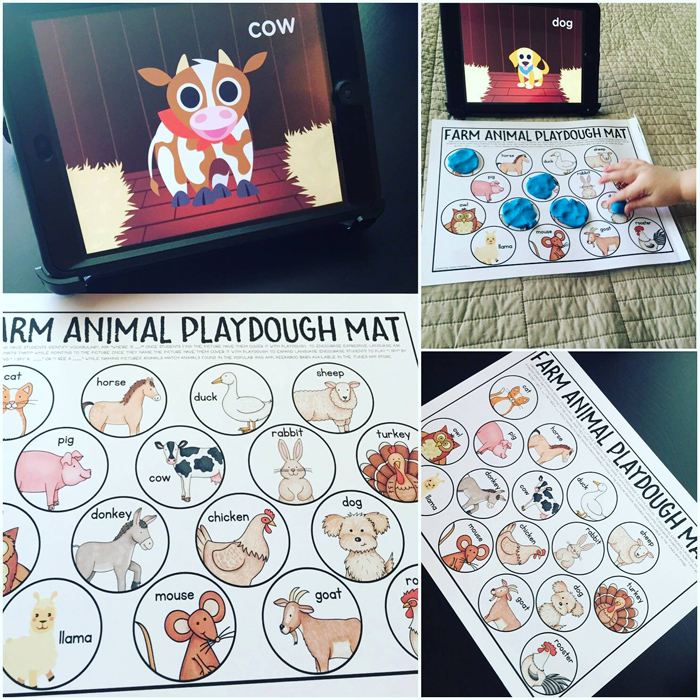 Primary Punch playdough mat ~ Kate Hadfield Designs