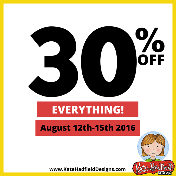 Save 30% storewide with the 2016 Summer Sale at Kate Hadfield Designs