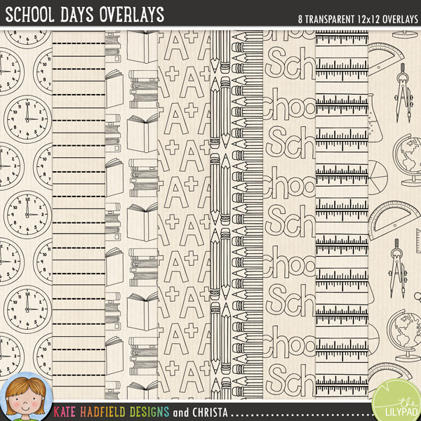 School Days Overlays by Kate Hadfield Designs