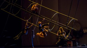 Cast of 'Sinué' with Bruno Renson's transformational set. IMAGE: Victor Frankowski