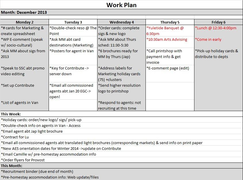 Sample Work Plans Kate Kim