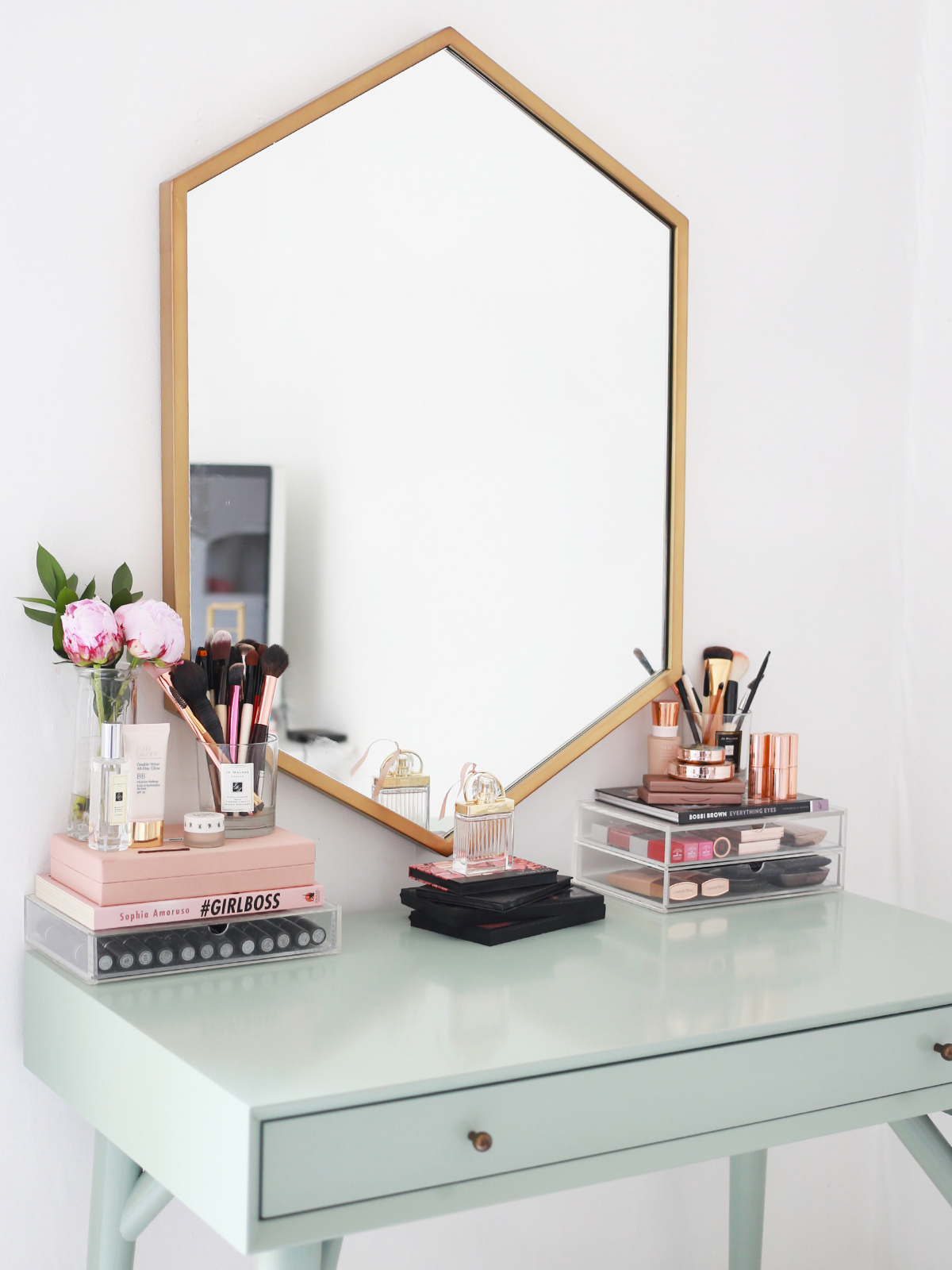 Metal Makeup Vanity Table Set My Makeup Collection Kate La Vie Bloglovin