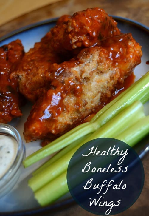 Boneless Buffalo Wings made healthier! Perfect for game night!