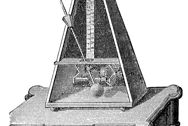Antique illustration of metronome