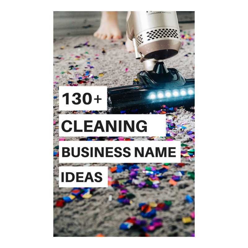 cleaning service name suggestions