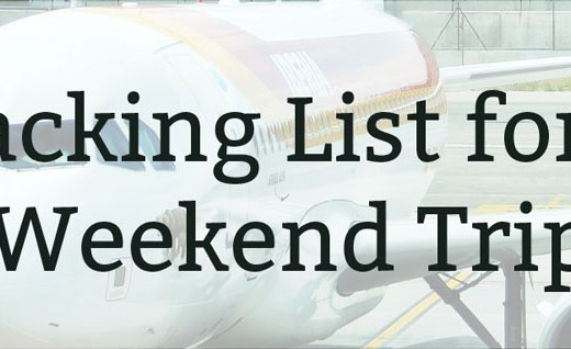Packing List for a Weekend Trip