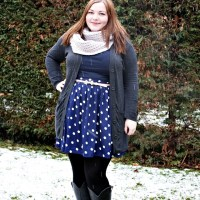 Blue & White & Snow {What I Wore}