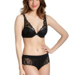 Wish Triangle Contour cup Bra, Black