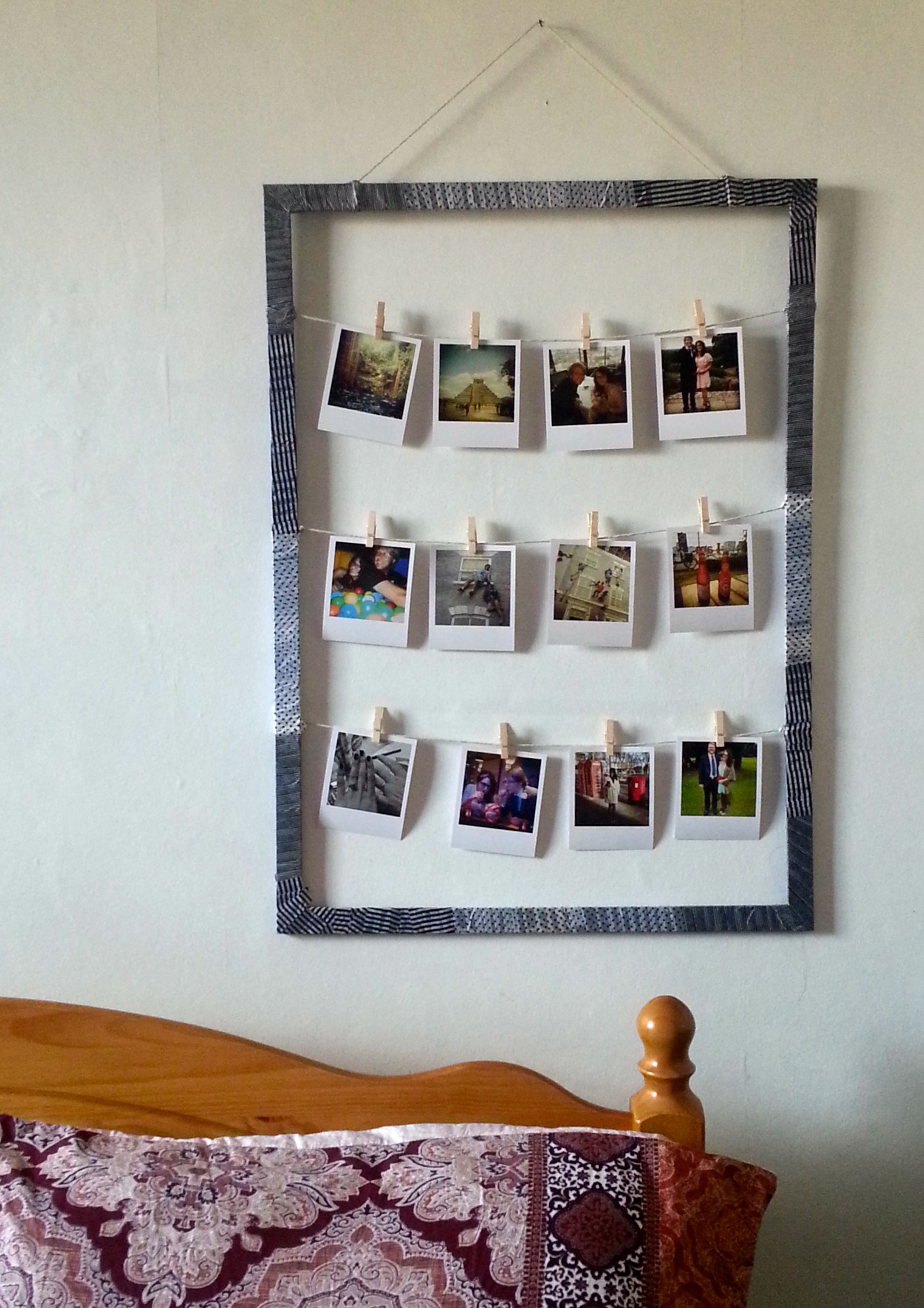Diy Pinterest Diy Pinterest Inspired Project For Polaroid Style Picture Display