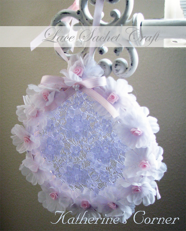 lace sachet craft katherines corner