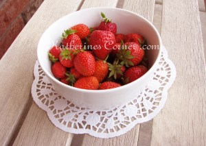 Wordless Wednesday The First Strawberries From Our Garden