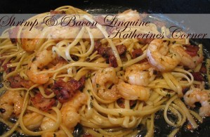 Shrimp Linguine with Bacon