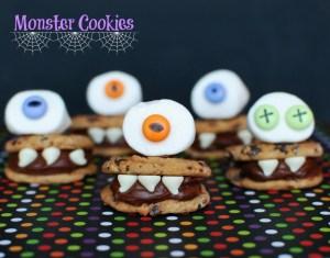 monster cookies halloween treat