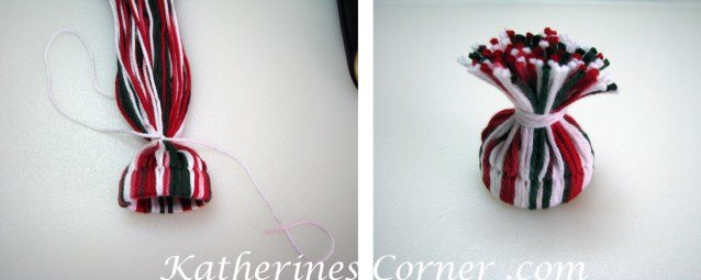 how to make a yarn hat bottle topper steps 7 8