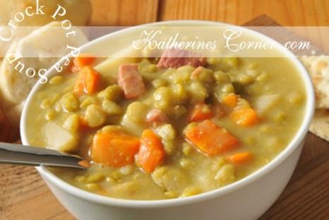 crock pot pea soup recipe