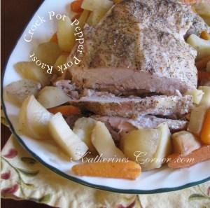 Crock Pot Pepper Pork Roast